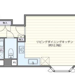角住戸、収納充実の59㎡・2LDKタイプ、WIC・SICや全居室に収納スペース、廊下収納があります。(間取)