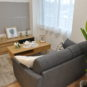 居間 壁面部分が広いため、ソファーやテレビボードを置いてもレイアウトがし易いプランです。