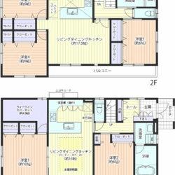 南に面した部屋が多く、明るく、陽当たり良好! 上下にLDKを備え、パーティーや事務所としても利用可能(間取)