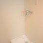 洗濯にも「お湯」が使えます!洗濯の汚れ落ちが良くなります。洗濯パンは、洗濯機の下の掃除が楽な高床式。