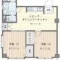間取 LDK9帖、洋室は2部屋とも6帖以上のフローリング、南東の角住戸のため通風・陽当たり・眺望良好です!