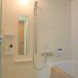 風呂 お湯張りは全自動、追い焚き付き。明るいバスルーム、浴室乾燥・暖房機、24時間換気機能もございます。