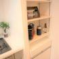 キッチン キッチンサイドにパントリースペースを設置。下部はダストボックスになっており、収納し易い仕様です。