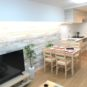 居間 壁面部分が広いため、ソファーやテレビボードなど大型の家具も置きやすい設計です。