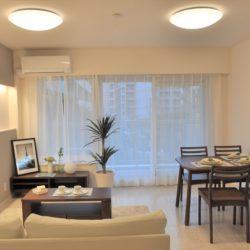 LDKが15帖以上あり、家族の共用スペースとして、広々とした空間です。(居間)